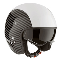AGV Diesel Hi-Jack White Stripes Open Face Helmet