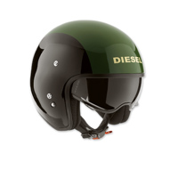 AGV Diesel Hi-Jack Black/Green Open Face Helmet