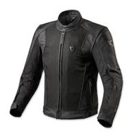 REV′IT! Men's Ignition 2 Black Leather/Mesh Jacket