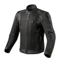 REV′IT! Men's Ignition 2 Black Leather/Mesh Jacket