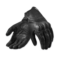 REV′IT! Men's Fly 2 Black Leather Gloves
