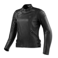 REV′IT! Women's Bellecour Black Leather Jacket