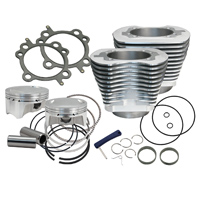 S&S Cycle 4″ Bolt In Sidewinder Big Bore Cylinder and Piston Kit Silver