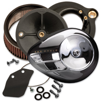 S&S Cycle Stealth Air Cleaner Kit Chrome Air Stream Cover