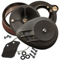 S&S Cycle Stealth Air Cleaner Kit Black Air Stream Cover