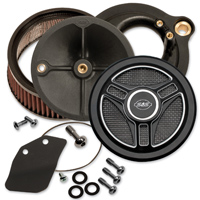 S&S Cycle Stealth Air Cleaner Kit Gloss Black Tri-Spoke Cover