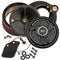 S&S Cycle Stealth Air Cleaner Kit Black Torker Cover