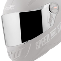 Speed and Strength SS1700 Silver Face Shield