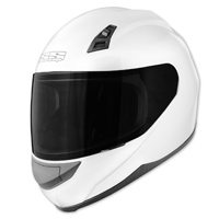 Speed and Strength SS700 Solid Speed Gloss White Full Face Helmet