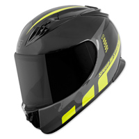 Speed and Strength SS3000 Light Speed Black/Hi-Viz Full Face Helmet
