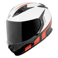 Speed and Strength SS3000 Light Speed White/Red Full Face Helmet
