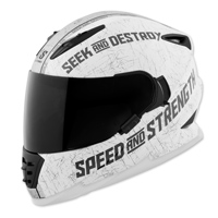 Speed and Strength SS1600 Cruise Missile Matte White/Silver Full Face Helmet