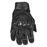 Speed and Strength Men's Full Battle Rattle Black Leather Gloves