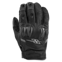 Speed and Strength Men's Power and the Glory Black Leather/Mesh Gloves