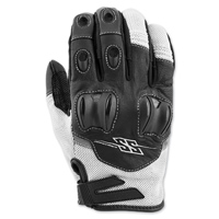 Speed and Strength Men's Power and the Glory White Leather/Mesh Gloves