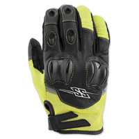 Speed and Strength Men's Power and the Glory Hi-Viz Leather/Mesh Gloves