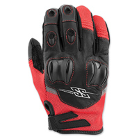 Speed and Strength Men's Power and the Glory Red Leather/Mesh Gloves