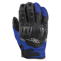 Speed and Strength Men's Power and the Glory Blue Leather/Mesh Gloves