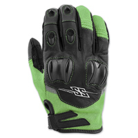 Speed and Strength Men's Power and the Glory Green Leather/Mesh Gloves