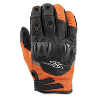 Speed and Strength Men's Power and the Glory Orange Leather/Mesh Gloves