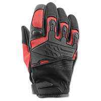 Speed and Strength Women's BackLash Black/Red Gloves