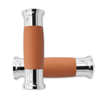 Avon Grips Chrome/Tan Gel Grips