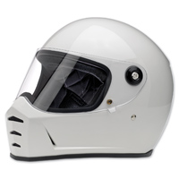 Biltwell Inc. Lane Splitter Gloss White Full Face Helmet