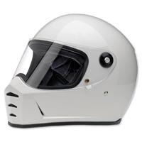 Biltwell Inc. Lane Splitter Gloss White Full Face Helmet