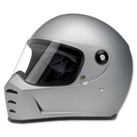 Biltwell Inc. Lane Splitter Flat Silver Full Face Helmet