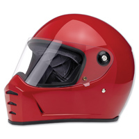 Biltwell Inc. Lane Splitter Gloss Blood Red Full Face Helmet