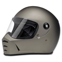 Biltwell Inc. Lane Splitter Flat Titanium Full Face Helmet