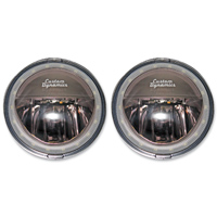 Custom Dynamics 4-1/2″ LED Chrome Passing Lights with Halo