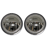Custom Dynamics 4-1/2″ LED Black Passing Lights with Halo