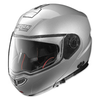 Nolan N104 Absolute MCS Gloss Silver Full Face Helmet