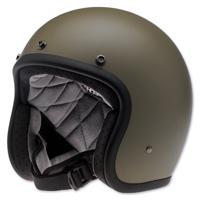 Biltwell Inc. Bonanza Flat Olive Open Face Helmet