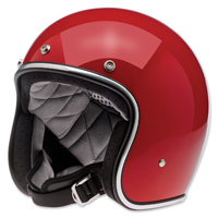 Biltwell Inc. Bonanza Gloss Blood Red Open Face Helmet
