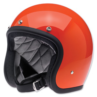 Biltwell Inc. Bonanza Gloss Hazard Orange Open Face Helmet