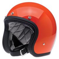 Biltwell Inc. Bonanza Gloss Hazard Orange Open Face Helmet