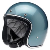 Biltwell Inc. Bonanza Gloss Blue Steel Open Face Helmet