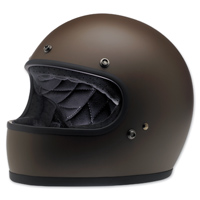 Biltwell Inc. Gringo Flat Chocolate Full Face Helmet