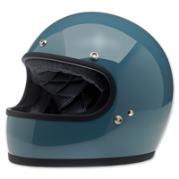Biltwell Inc. Gringo Gloss Baja Blue Full Face Helmet