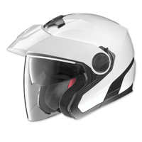Nolan N40 Metallic White Open Face Helmet
