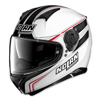 Nolan N87 Rapid White/Red Full Face Helmet