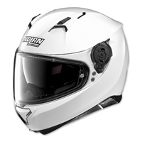 Nolan N87 Metallic White Full Face Helmet