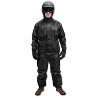 Black Brand Men's Tempest Two-Piece Black Rain Suit