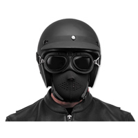 Black Brand Black Neoprene Half Face Mask