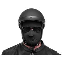 Black Brand Black Neoprene Full Face Mask