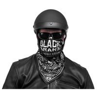 Black Brand Black Paisley Deluxe Bandana