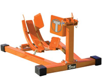Titan Lifts Orange Bulldog Moto Cradle Wheel Chock