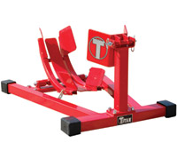 Titan Lifts Red Bulldog Moto Cradle Wheel Chock